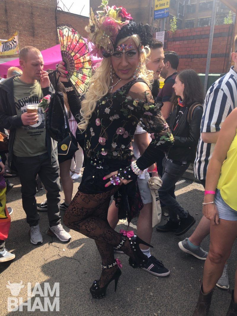 Crystal drag artist in Birmingham