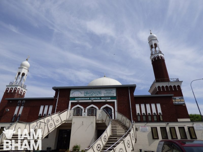 The Birmingham Central Mosque in Highgate had had its dome cleaned up for Ramadan
