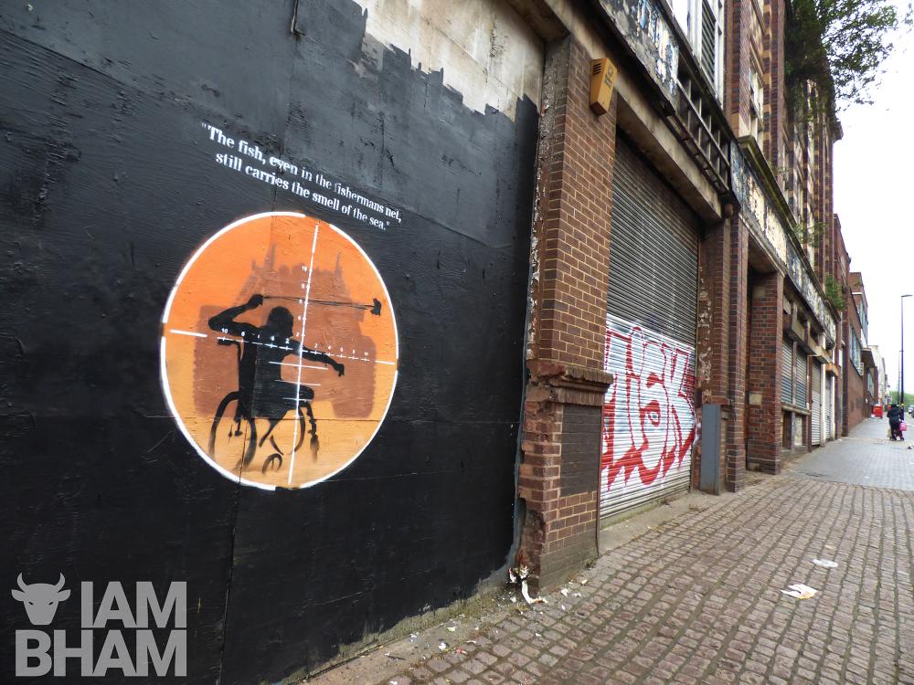 Palestinian sniper victim artwork appears overnight in Digbeth, Birmingham