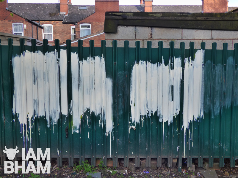 Local residents in Small Heath have been painting over the racist graffiti to prevent it from inciting further offence and outrage