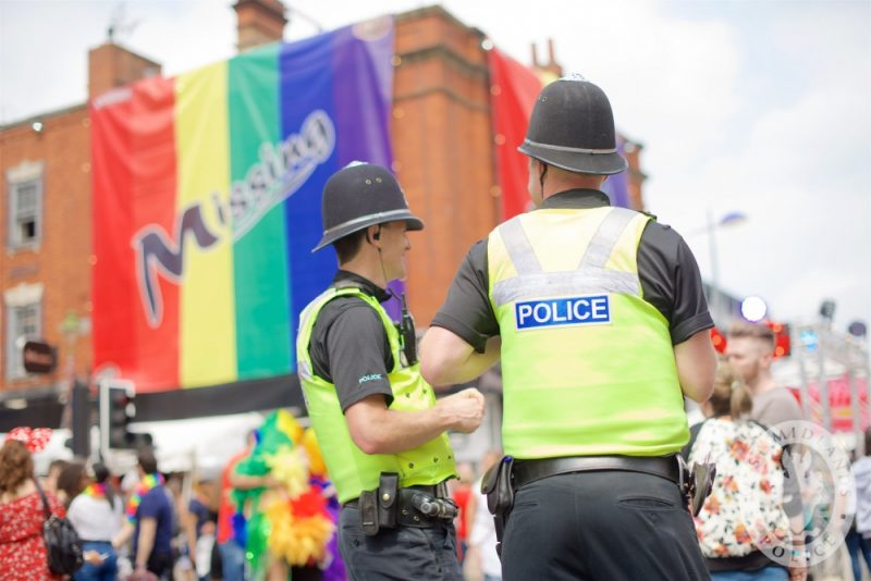 West Midlands Police officers in the city's Gay Quarter over Pride weekend