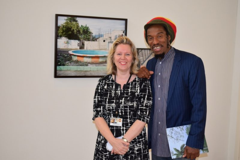 Benjamin Zephaniah at the Beyond Windrush exhibition launch at the mac Birmingham