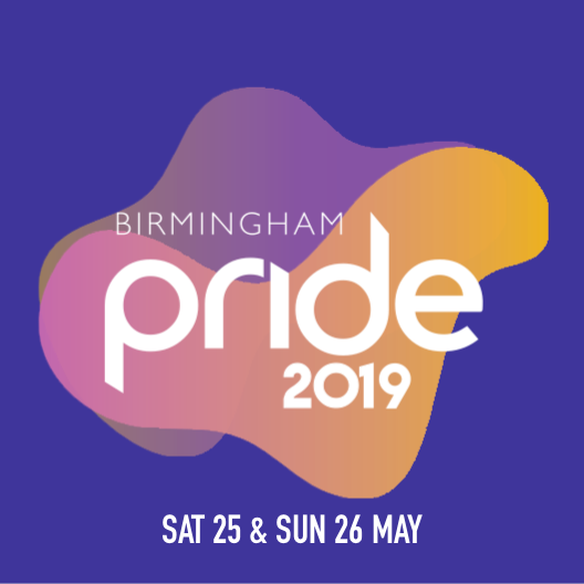 The Birmingham Pride 2019 logo