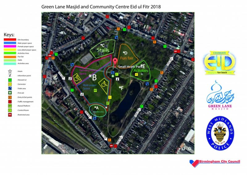 Celebrate Eid 2018 Small Heath Park layout