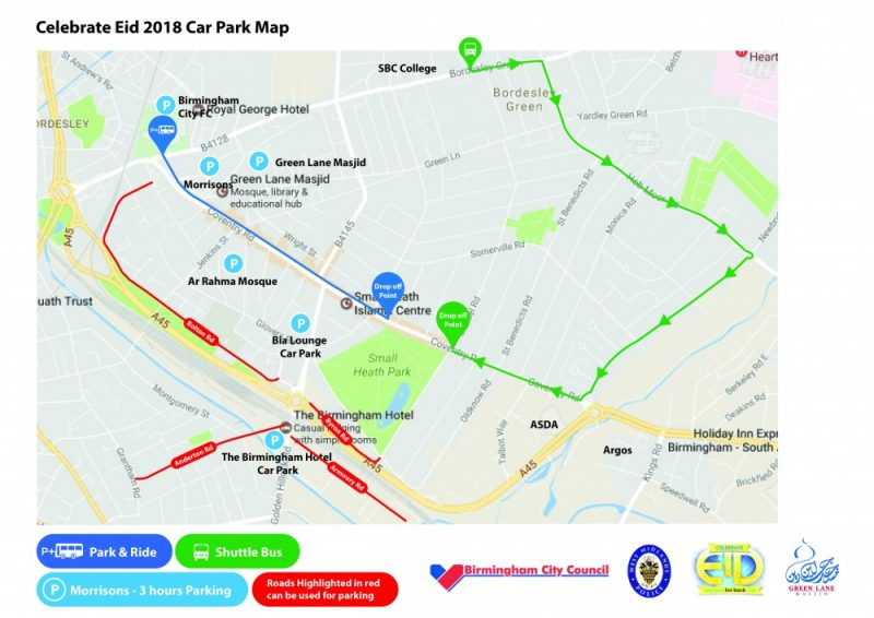 Celebrate Eid at Small Heath Park transport and shuttle bus