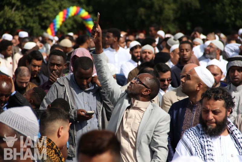 Eid services in Small Heath Park in Birmingham
