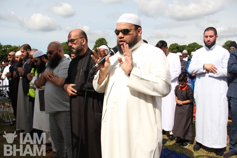 What time are Eid prayers in Birmingham today?