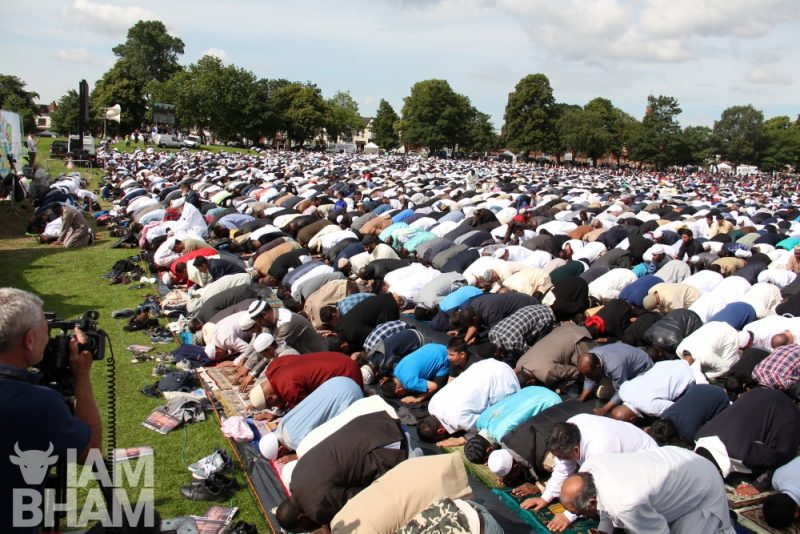 A special Birmingham Eid prayer service will take place at Small Heath Park