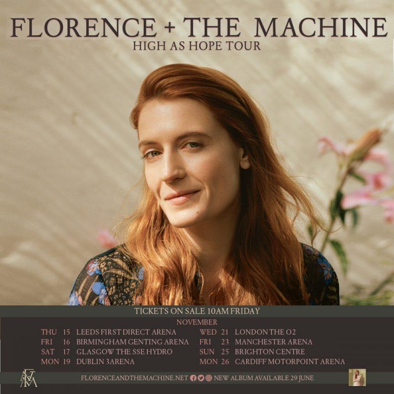 Florence + the Machine UK tour dates