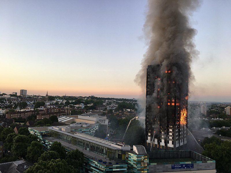 The tragedy of Grenfell Tower is also hauntingly portrayed in a number of stories