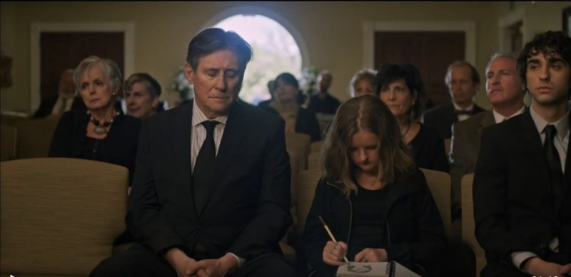 Gabriel Byrne (left), Milly Shapiro and Alex Wolff in Hereditary