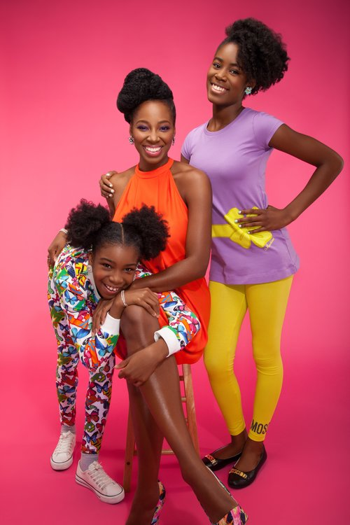 Jamelia with children Téja and Tiani