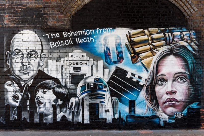 The final Odeon Luxe street at mural at the Custard Factory in Digbeth