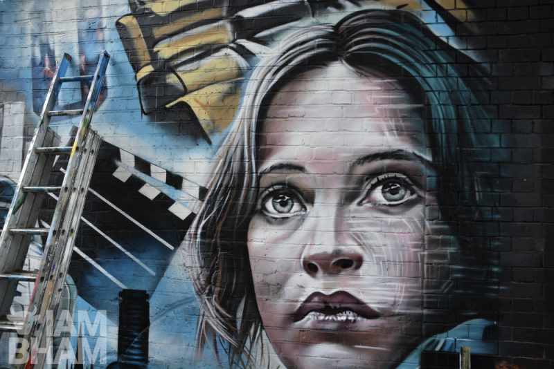 A new 'Star Wars' themed mural inspired by Birmingham's film history has been unveiled in Digbeth