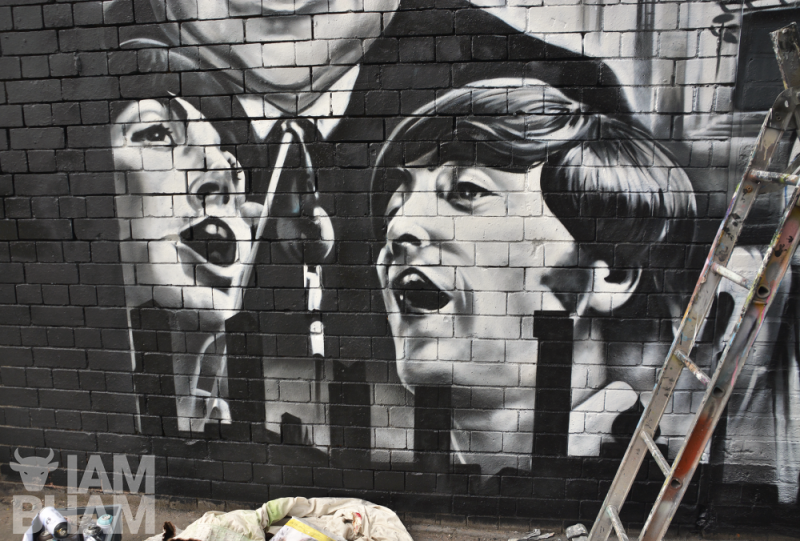 The Beatles, who performed at the Birmingham Odeon in 1965, are featured in the special street art mural