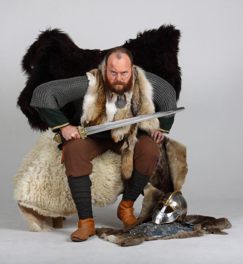 Sweyn Forkbeard in the Viking Heroes exhibition at Wolverhampton Art Gallery