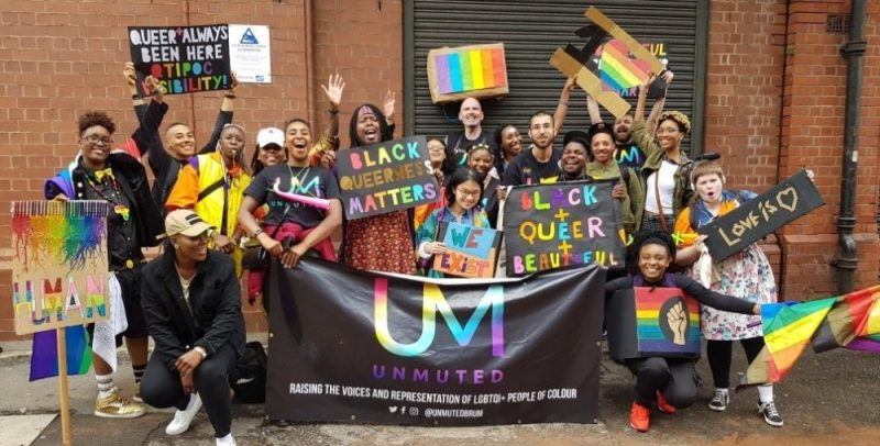 UNMUTED, a community support network for people of colour who identify LGBTQI, at Birmingham Pride 2018