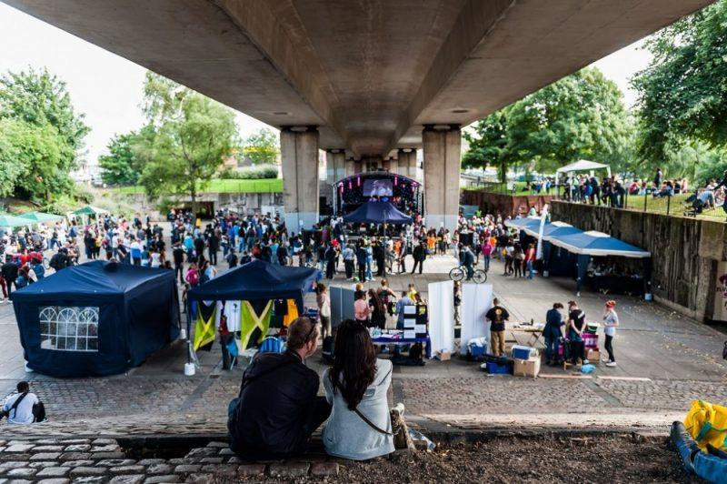 The Flyover Show is held below the Hockley underpass in Birmingham