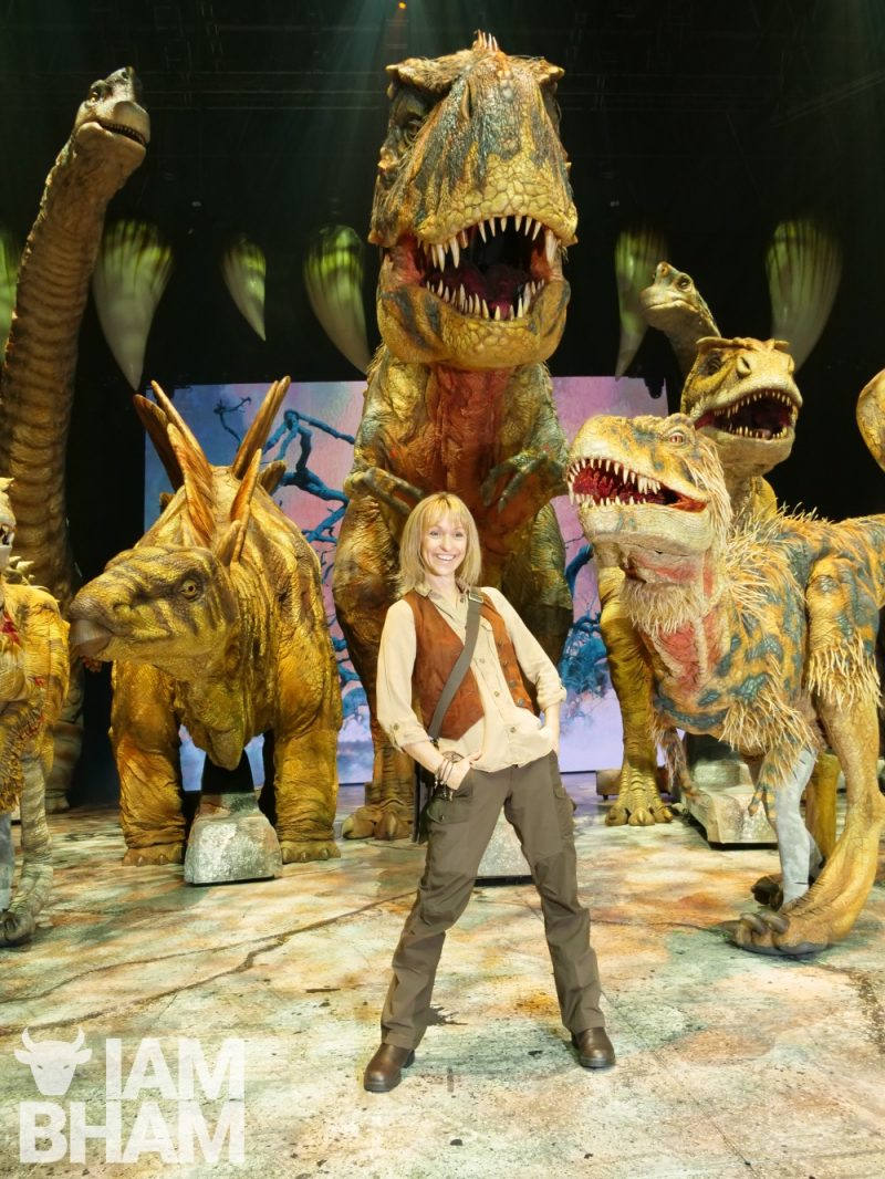 Walking with Dinosaurs - The Arena Spectacular recreates dinosaurs using animatronics and actors