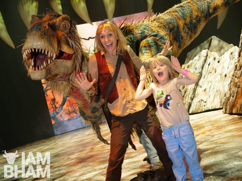 Walking with Dinosaurs is on at Arena Birmingham, formerly the Birmingham Barclaycard Arena