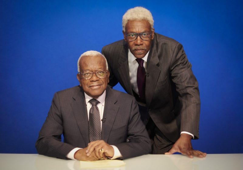 Lenny Henry as and with Trevor McDonald for his 60th birthday special