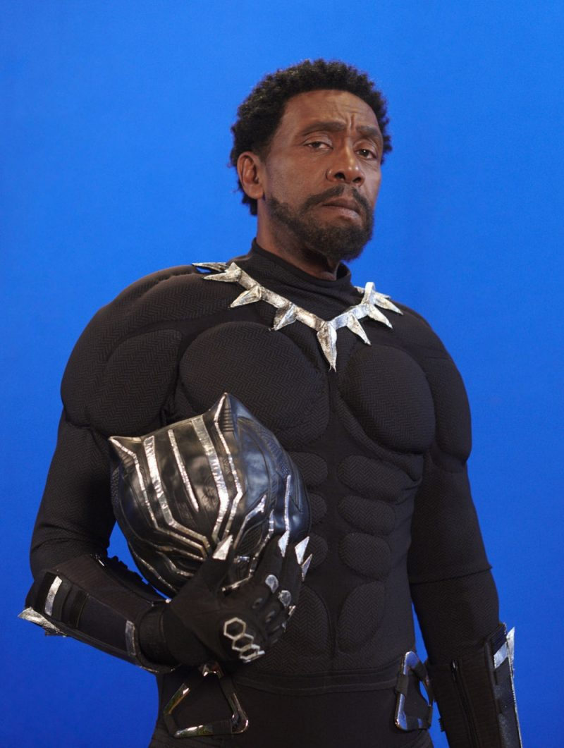 Lenny Henry as T'Challa Black Panther for his 60th birthday special