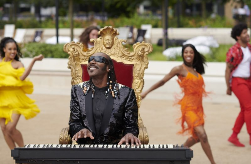 Lenny Henry as Stevie Wonder for his 60th birthday special
