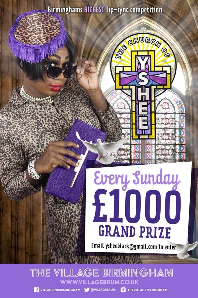 The Church of Yshee has fast become a hit in Birmingham with a £1000 grand prize.