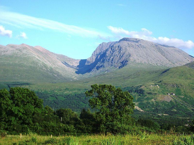 Ben Nevis in Scotland is the UK's highest mountain