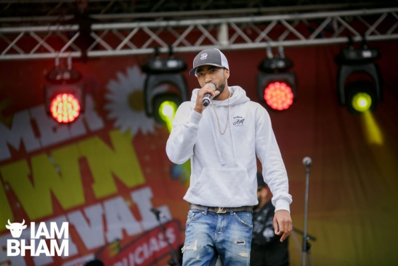 Abel Miller performs on the main stage at Simmer Down festival 2018