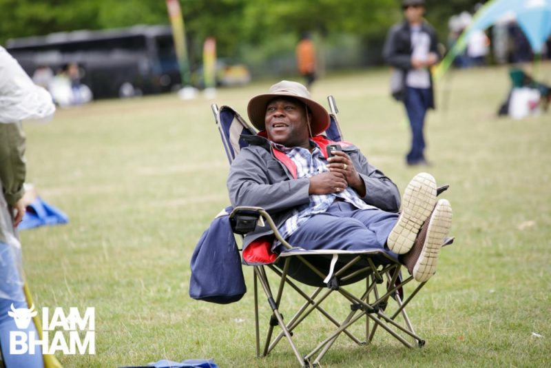 A reveller chilling in Handsworth Park during Simmer Down Festival 2018
