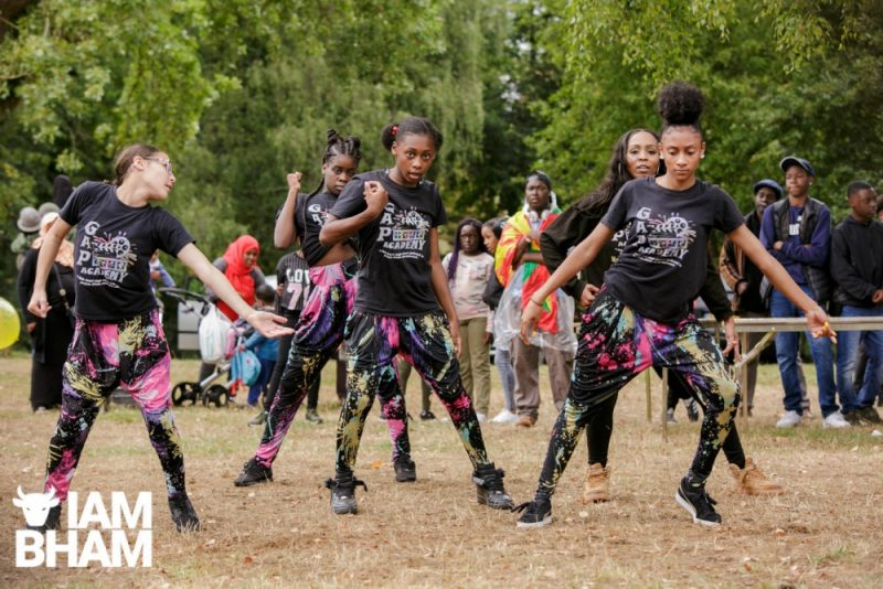 Young dancers performing at Simmer Down Festival 2018
