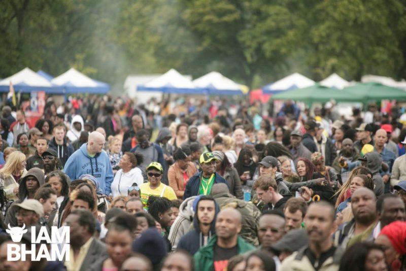 Crowds at Simmer Down festival 2018 in Handsworth Park in Birmingham