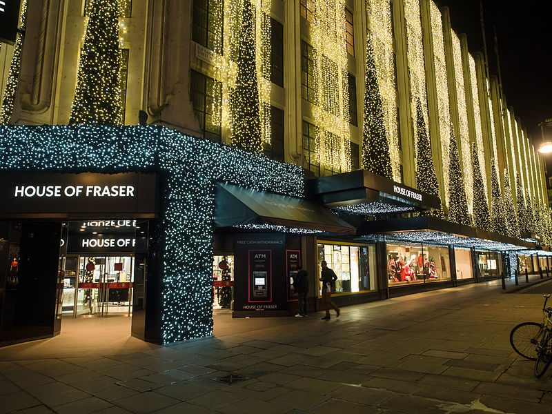 House of Fraser in Oxford Street in London