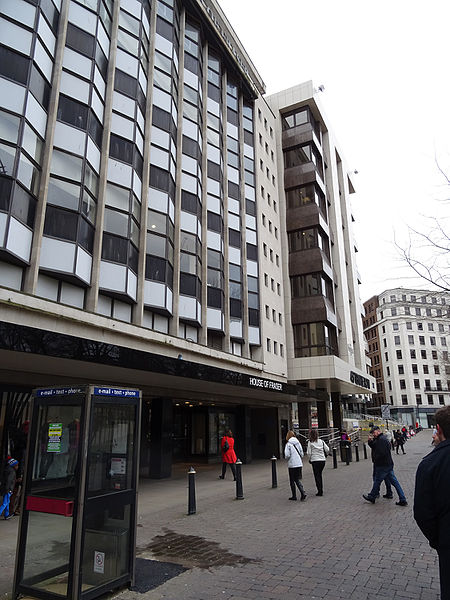 House of Fraser store in Temple Row in Birmingham city centre