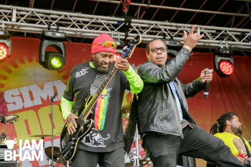 Inner Circle reggae band at Simmer Down Festival 2018 in Handsworth park in Birmingham UK