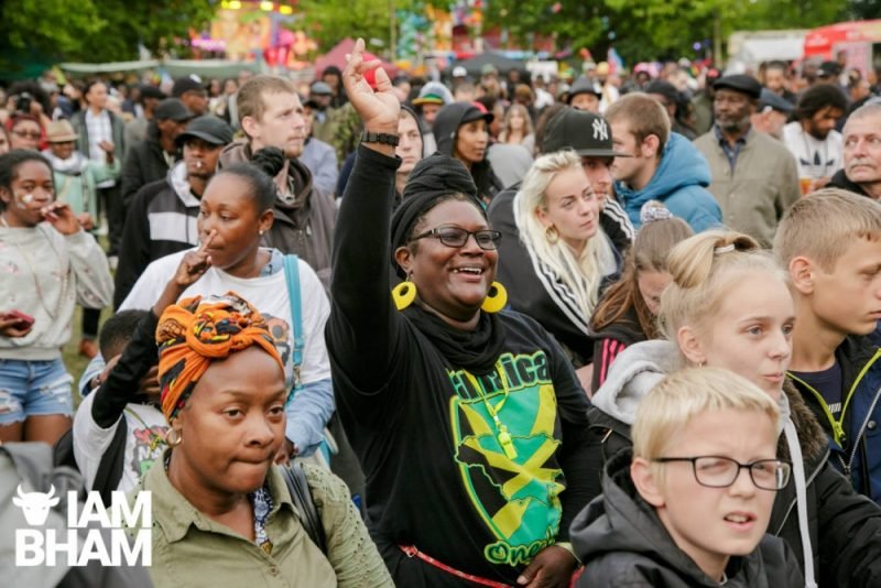 Smiling at Simmer Down Festival 2018 in Birmingham