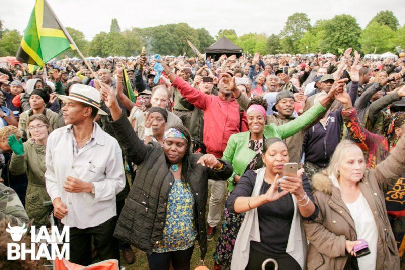 Crowds enjoying Simmer Down Festival 2018 in Handsworth Park