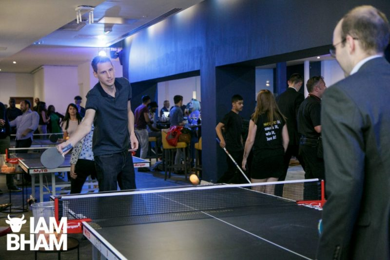 Serve Birmingham offers customers a ping pong gaming experience in a food and drink bar environment