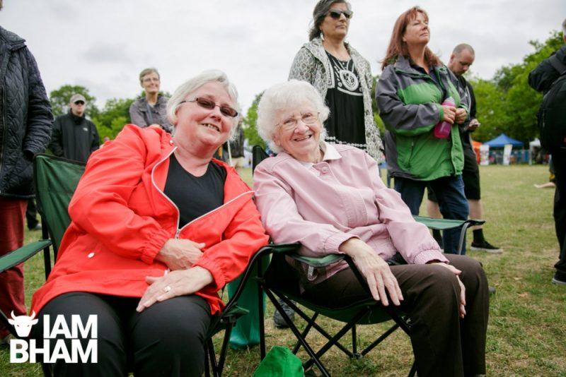 Older women enjoy the Simmer Down Festival in Handsworth Park in Birmingham