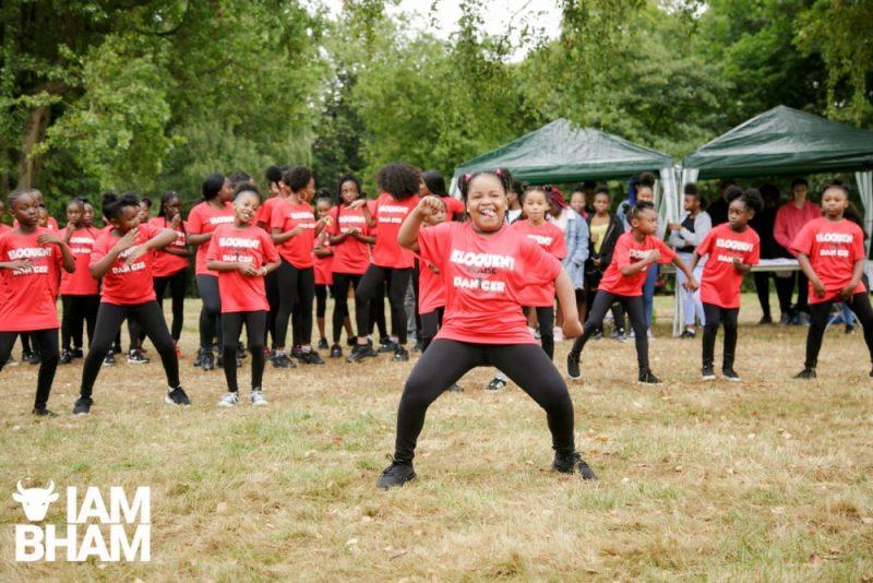 Dancing girl group at Simmer Down Festival 2018 in Handsworth in Birmingham