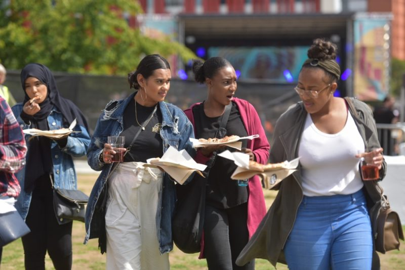 Students at Eastside Park in Birmingham for BCU Fest, the Birmingham City's University's first-ever student festival