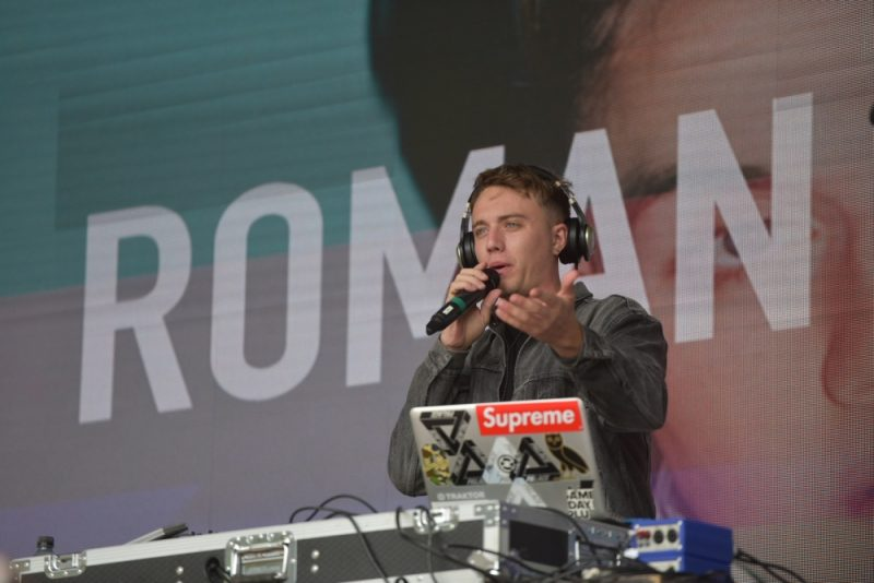 DJ Roman Kemp performing at Eastside Park in Birmingham for BCU Fest, the Birmingham City's University's first-ever student festival