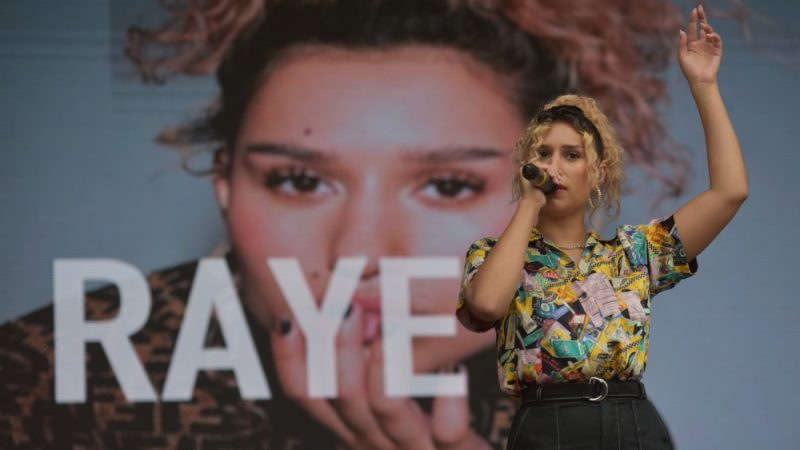 Music star RAYE performs at Eastside Park in Birmingham for BCU Fest, the Birmingham City's University's first-ever student festival