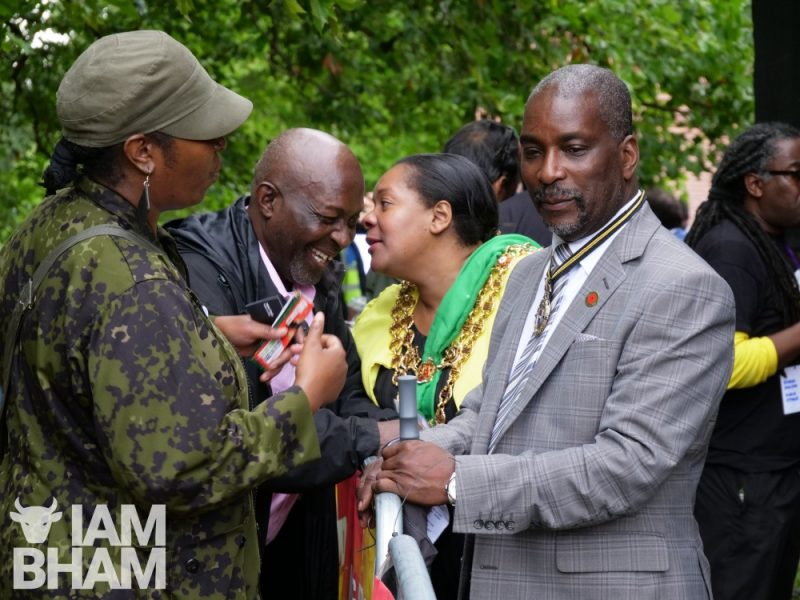 Maxie Hayles, Yvonne Mosquito, Charmaine Burton and Winston Mosquito at Simmer Down Festival 2018