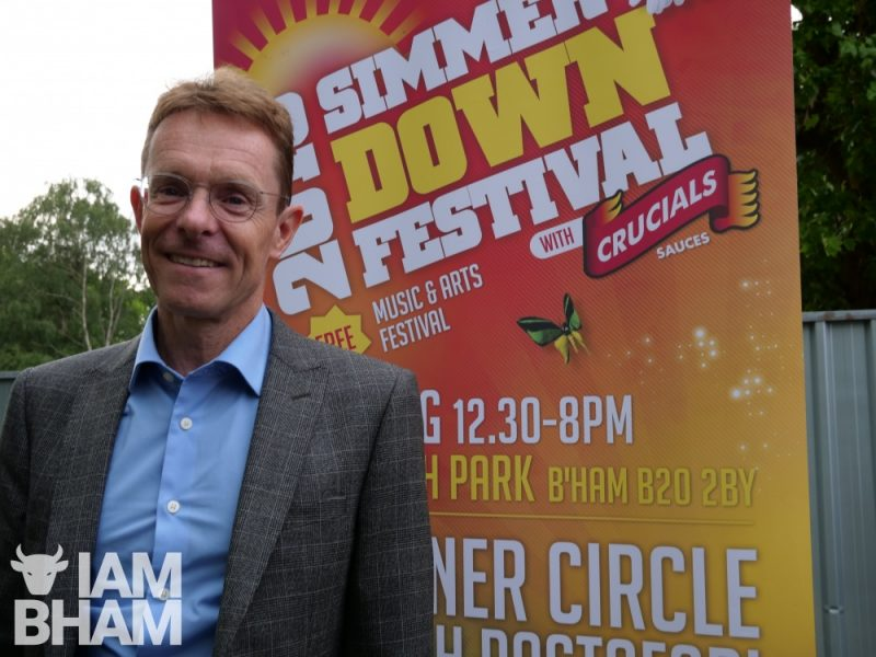 West Midlands Mayor Andy Street at Simmer Down Festival 2018
