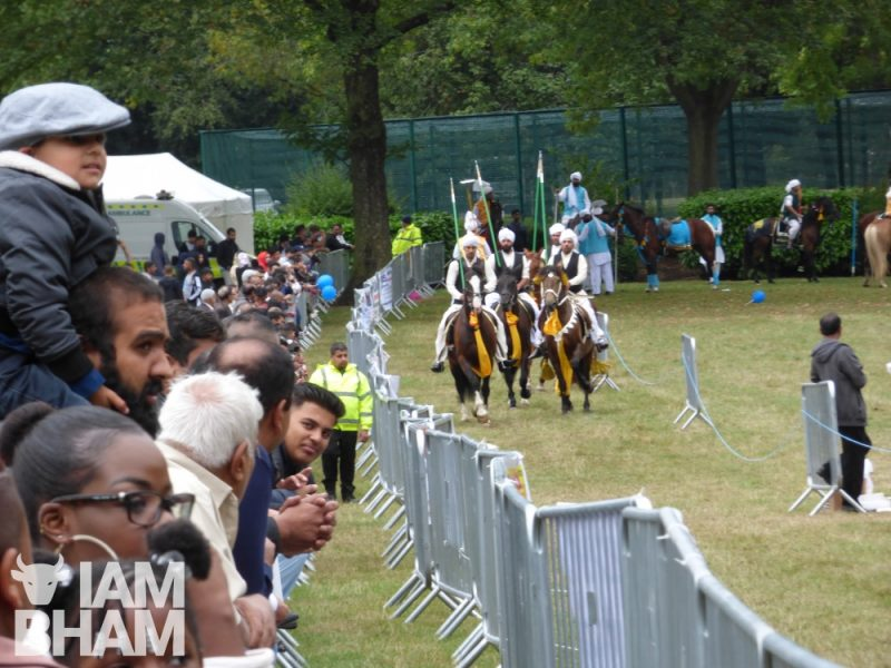 Horse riding entertaining crowds at the Ward End Park Mega Mela