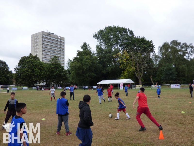 Football being played in Ward End Park during the Mega Mela 2018