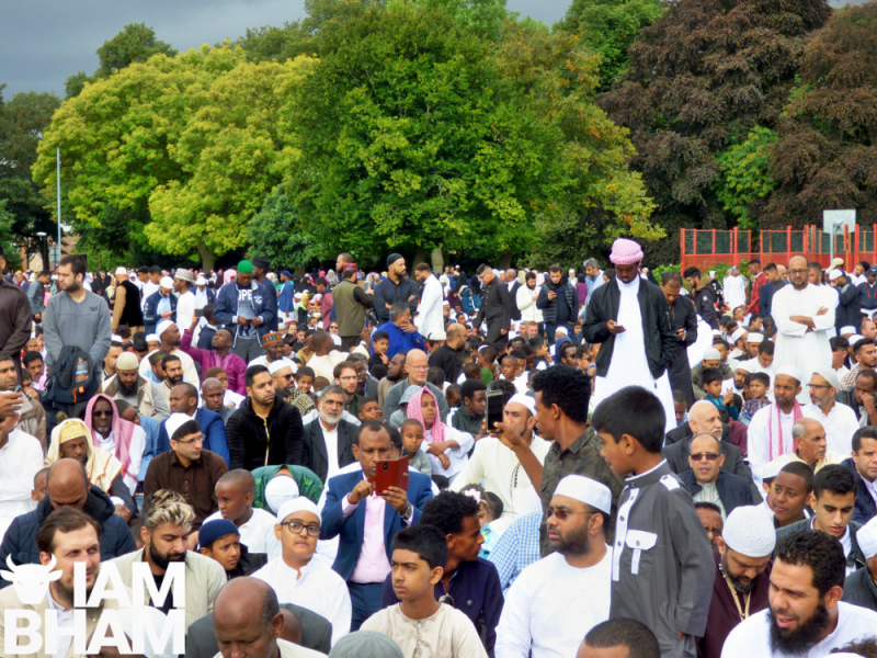 Worshippers arrived from all over the country for Eid al-Adha prayers in Birmingham's Small Heath Park