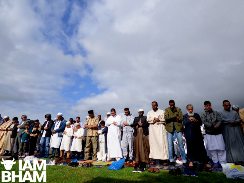 Thousands of attendees lined Small Heath Park for special Eid al-Adha prayer services